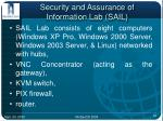 security and assurance of information lab sail12