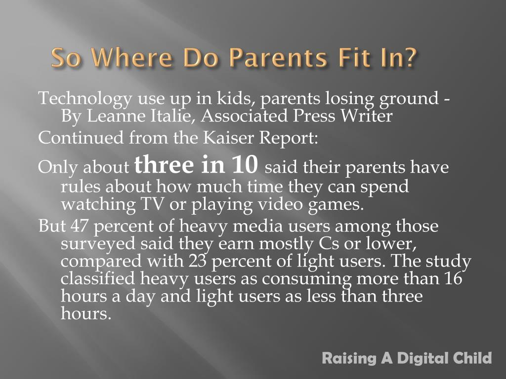 So Where Do Parents Fit In?