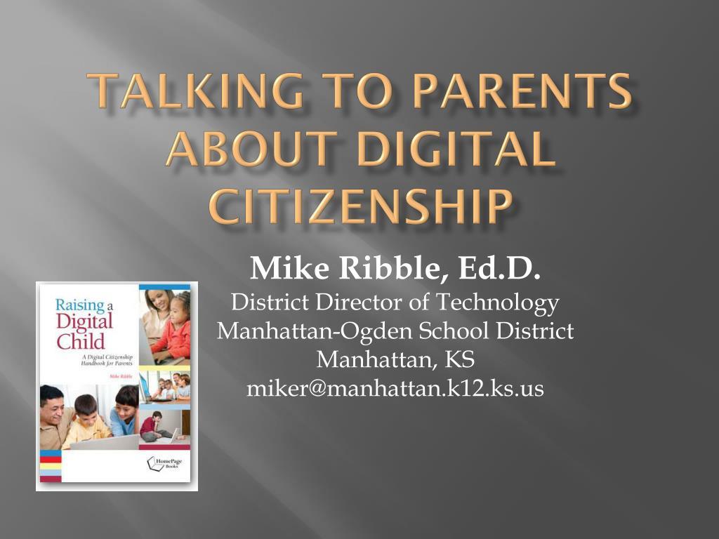 talking to parents about digital citizenship l.
