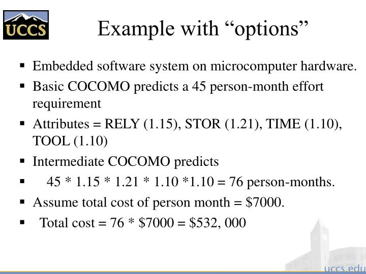 """Example with """"options"""""""