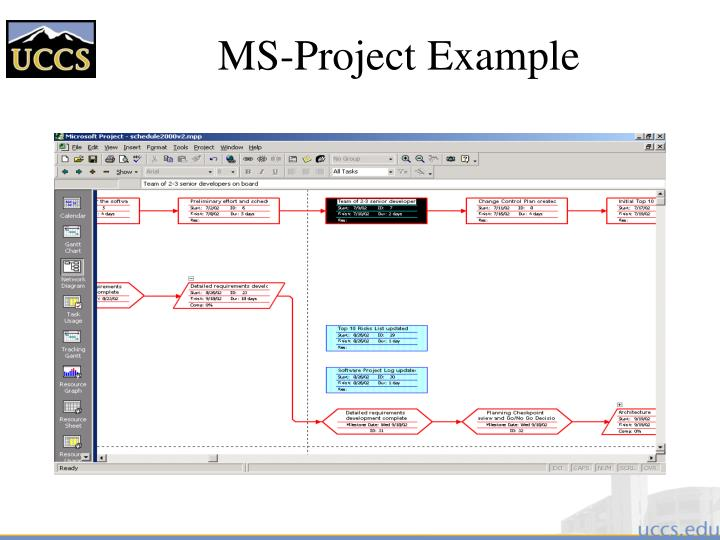 MS-Project Example