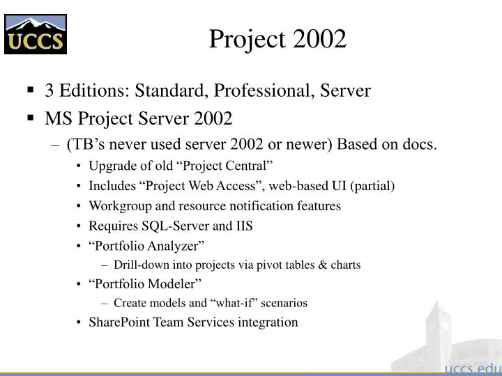Project 2002