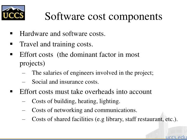 Software cost components