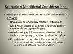 scenario 4 additional considerations
