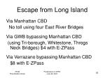 escape from long island