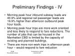 preliminary findings iv