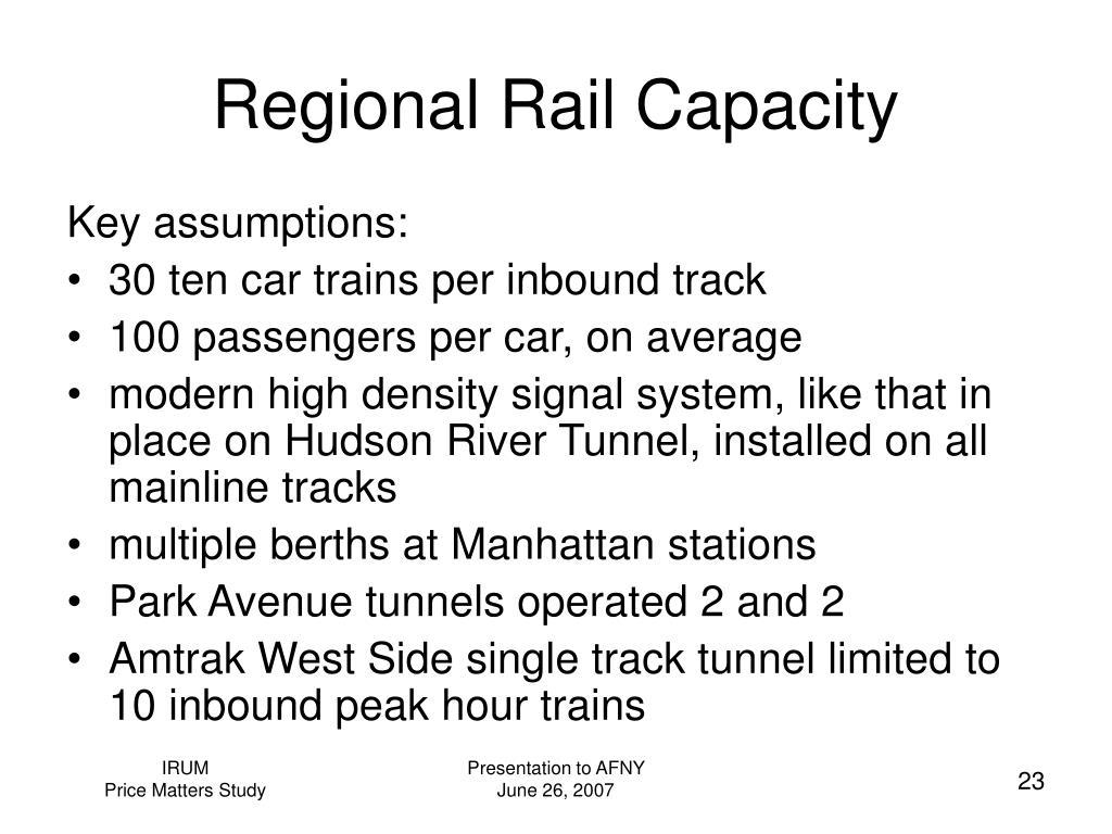 Regional Rail Capacity
