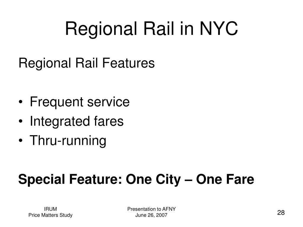 Regional Rail in NYC