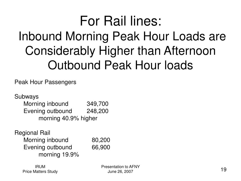 For Rail lines: