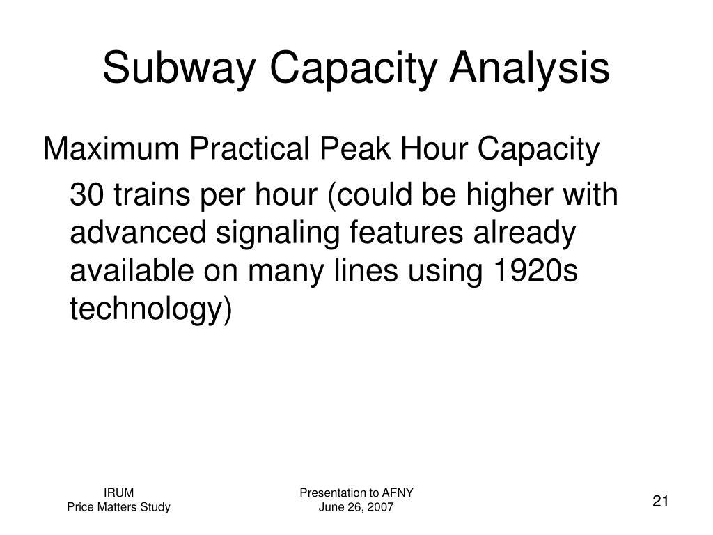 Subway Capacity Analysis