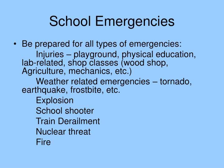 School emergencies