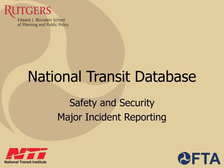 national transit database n.