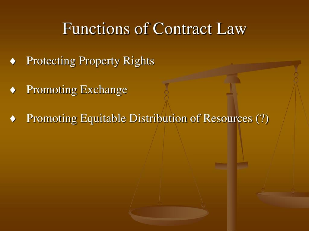 Functions of Contract Law