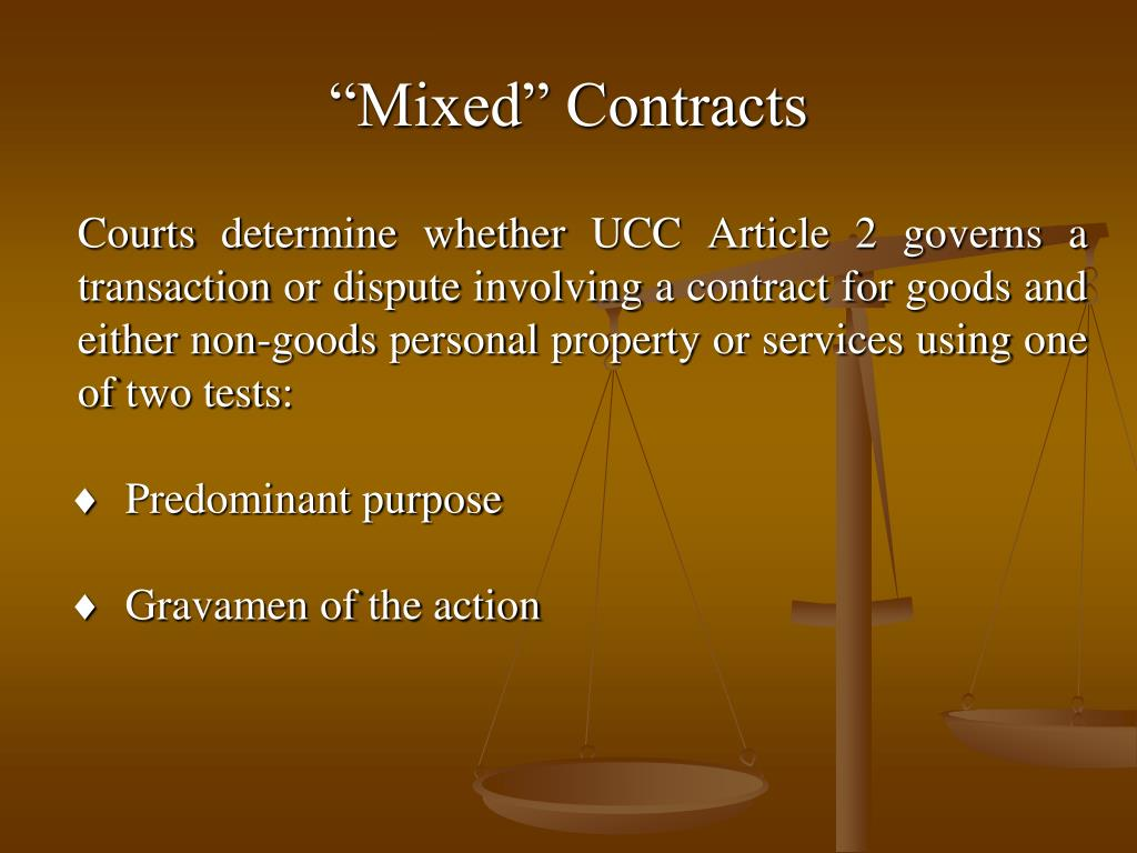 """Mixed"" Contracts"