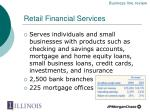 retail financial services