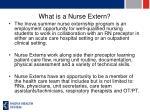 what is a nurse extern