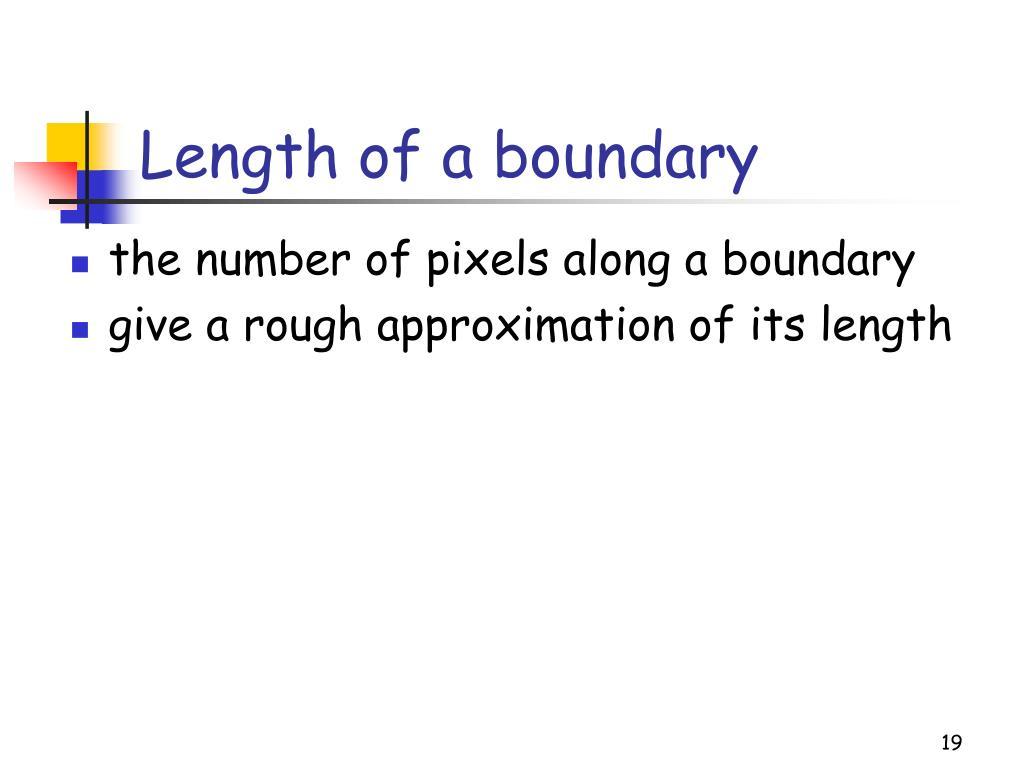 Length of a boundary