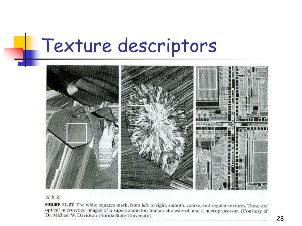 Texture descriptors