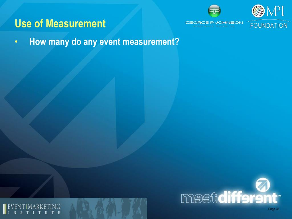 Use of Measurement