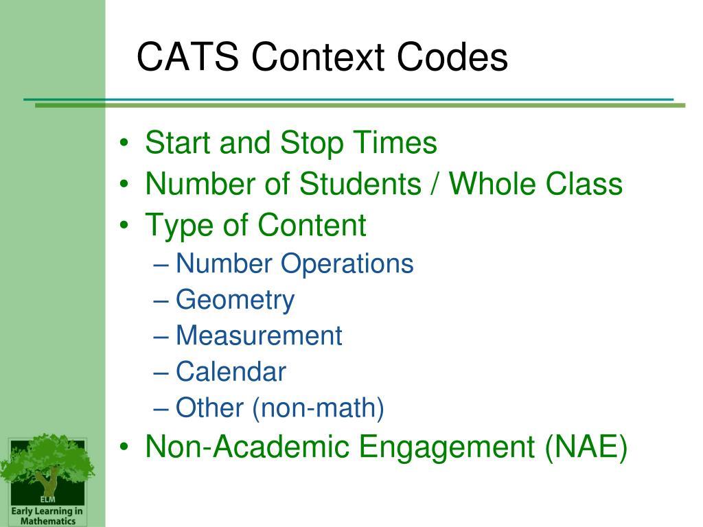 CATS Context Codes