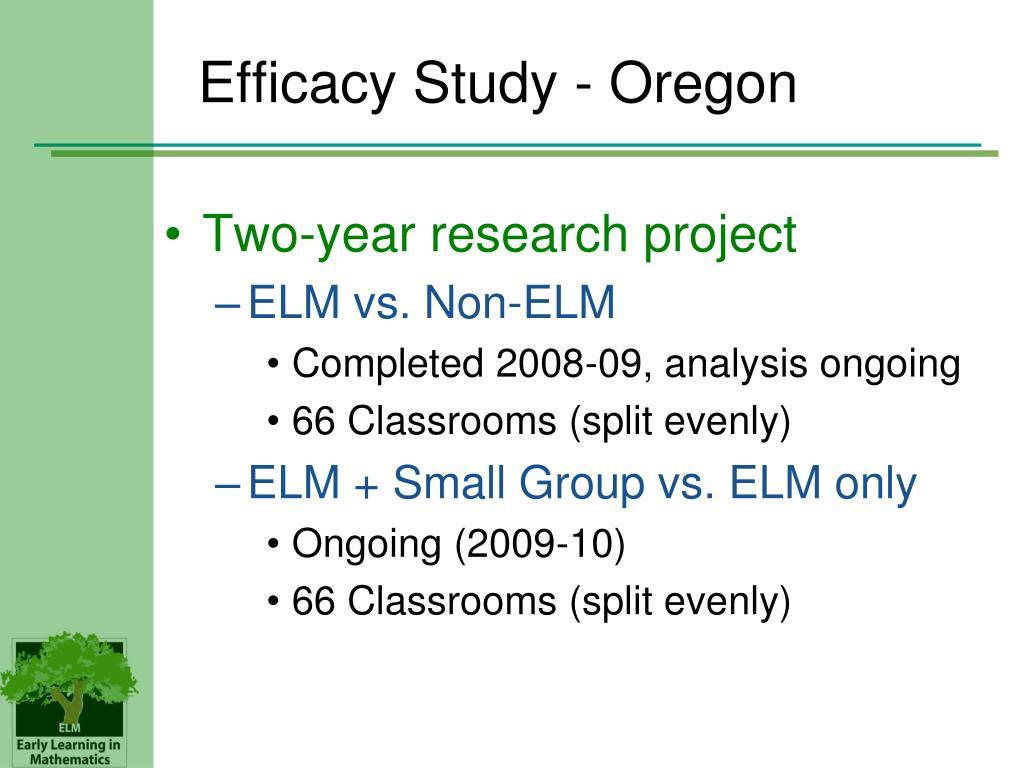 Efficacy Study - Oregon