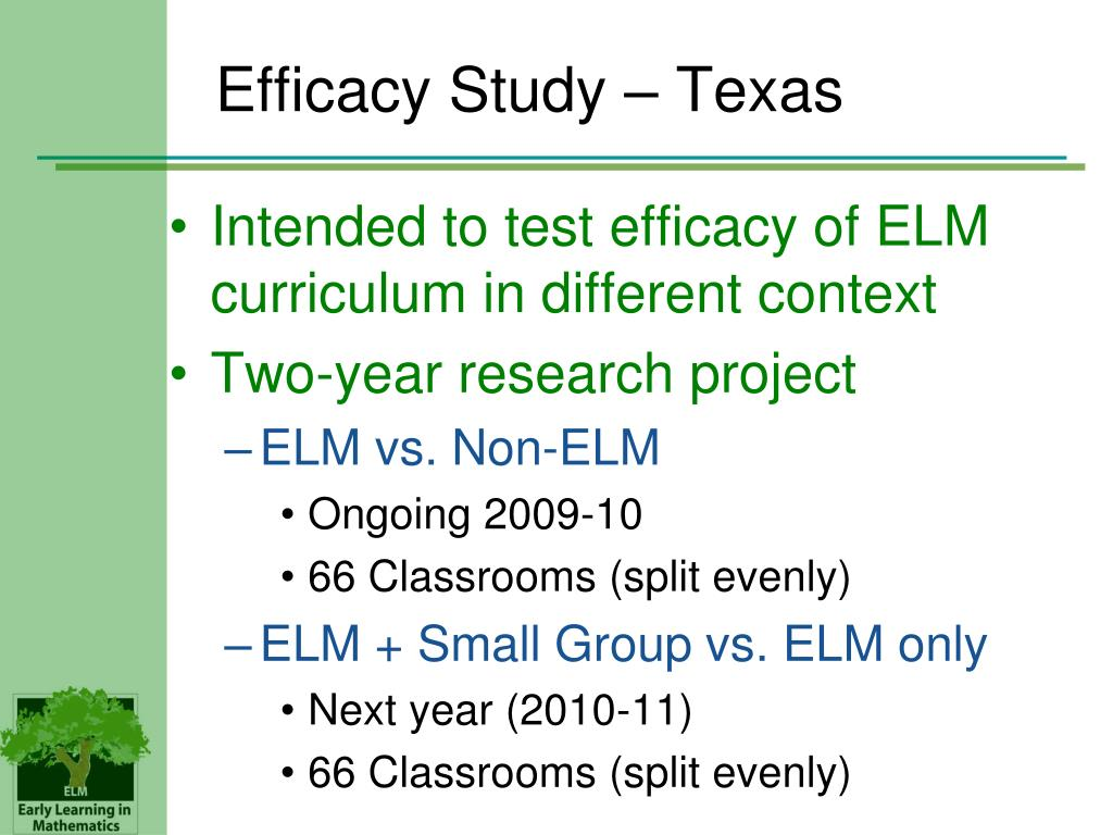 Efficacy Study – Texas