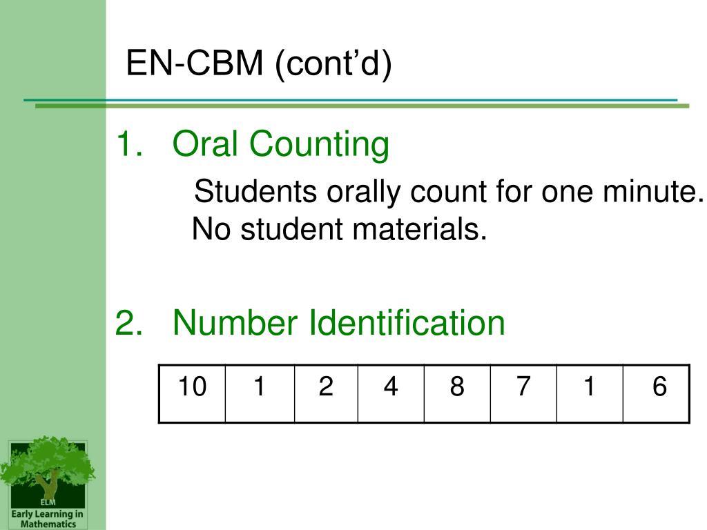EN-CBM (cont'd)