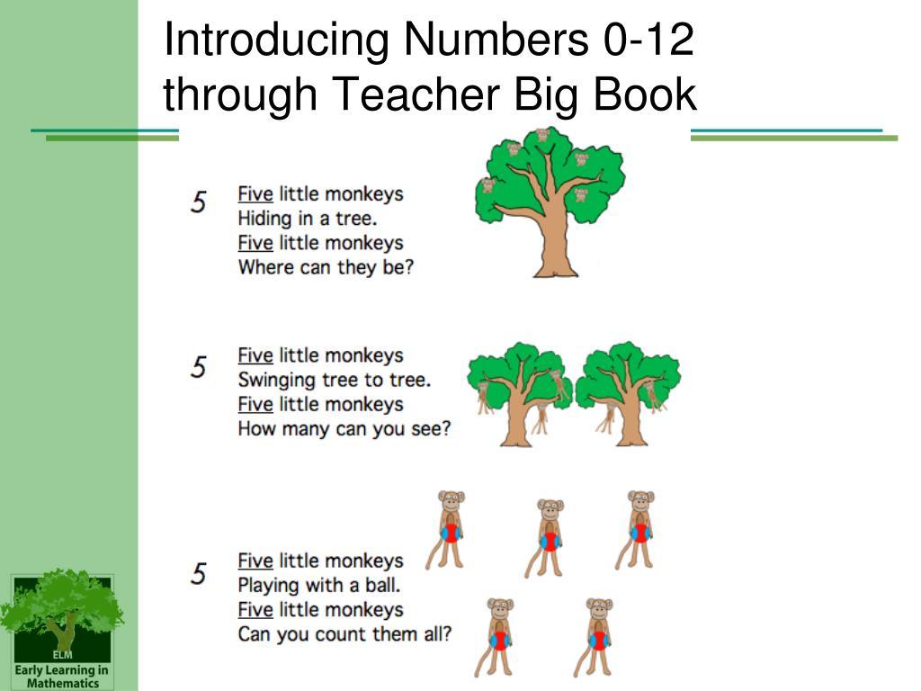 Introducing Numbers 0-12 through Teacher Big Book