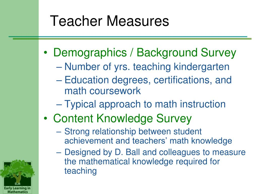 Teacher Measures