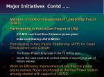 major initiatives contd