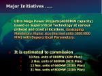 major initiatives19