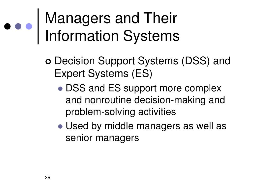 Managers and Their Information Systems
