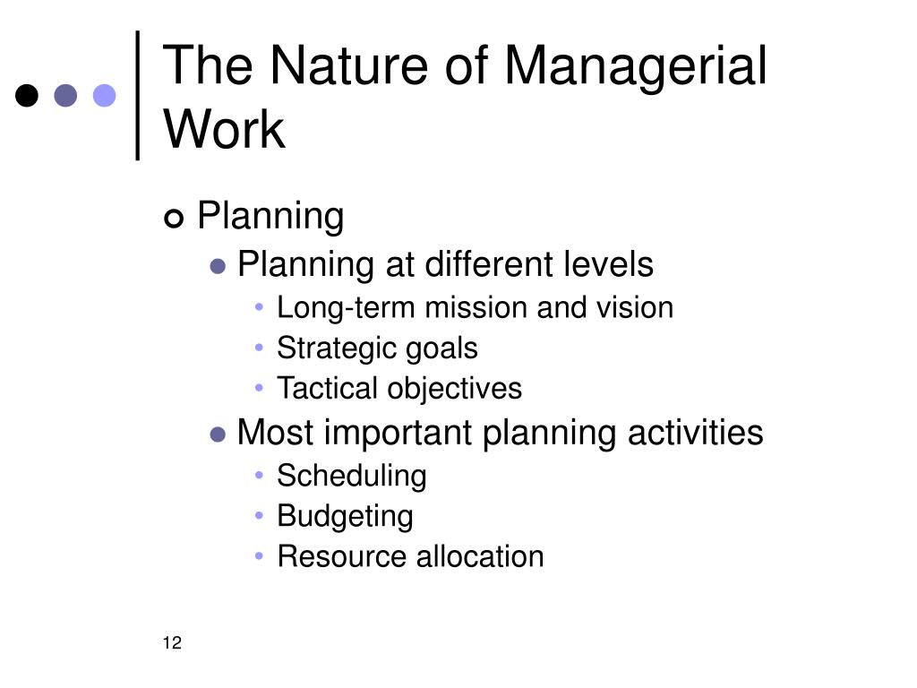 The Nature of Managerial Work