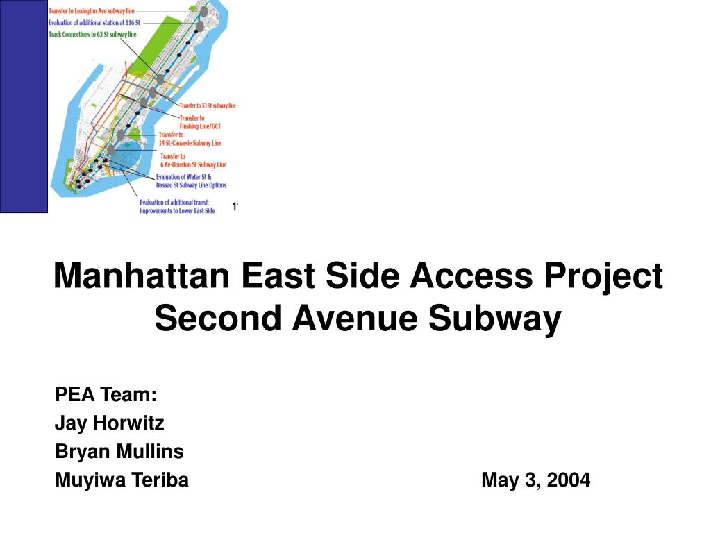 manhattan east side access project second avenue subway l.