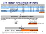 methodology for estimating benefits