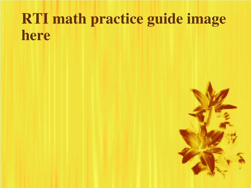 RTI math practice guide image here