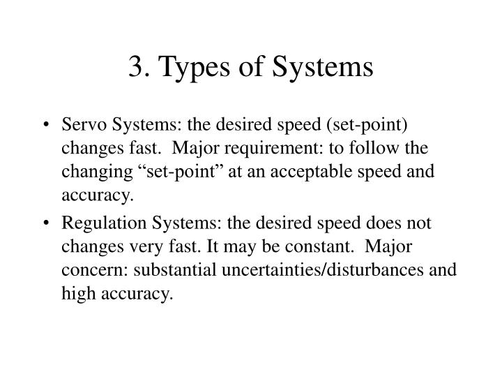 3. Types of Systems