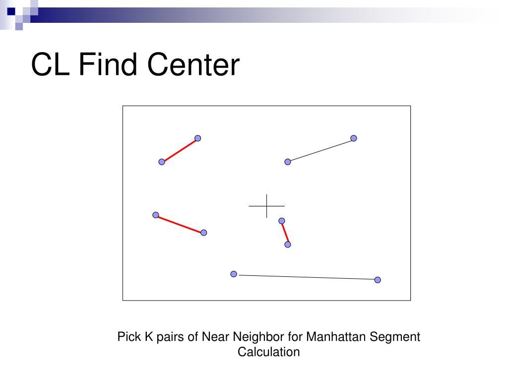 CL Find Center