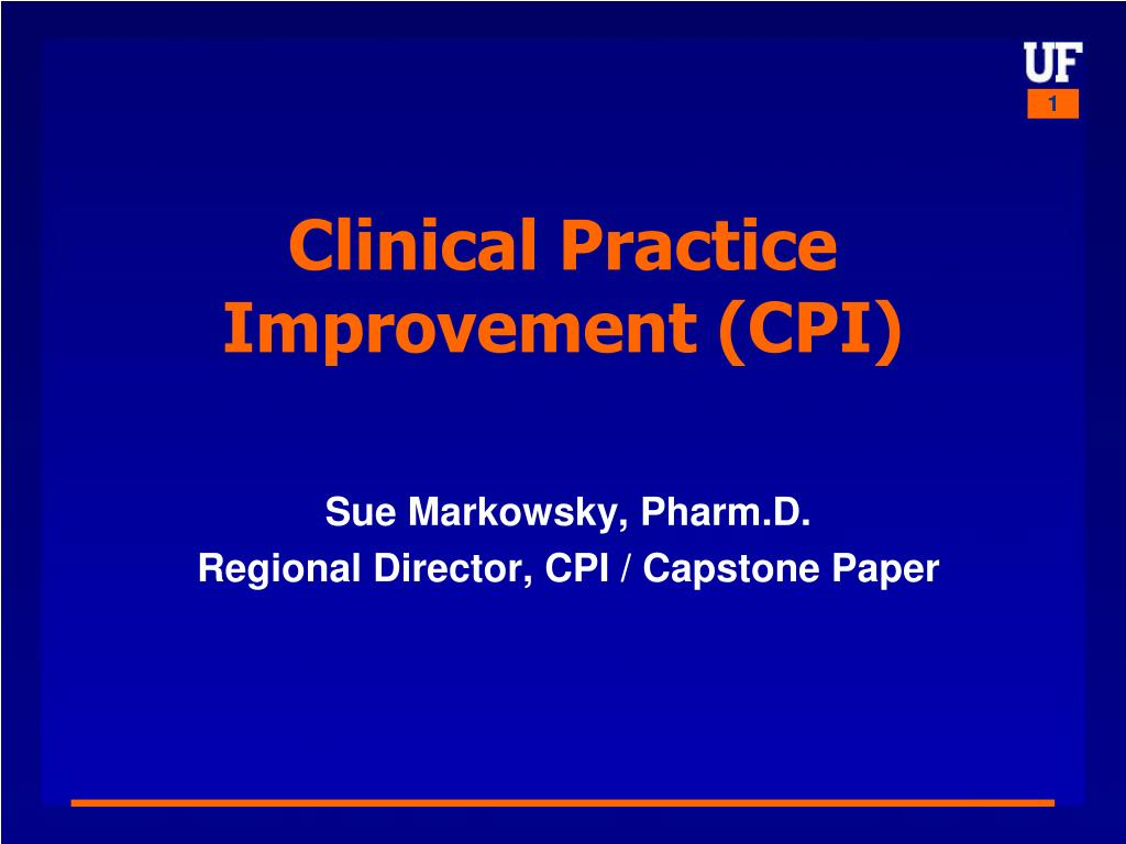 clinical practice improvement cpi