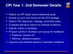 cpi year 1 2nd semester details