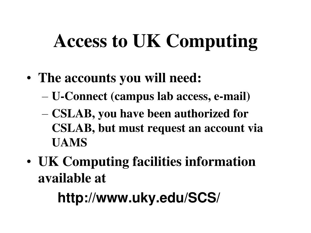 access to uk computing l.
