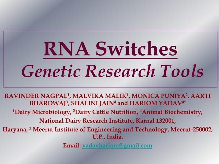 rna switches genetic research tools n.