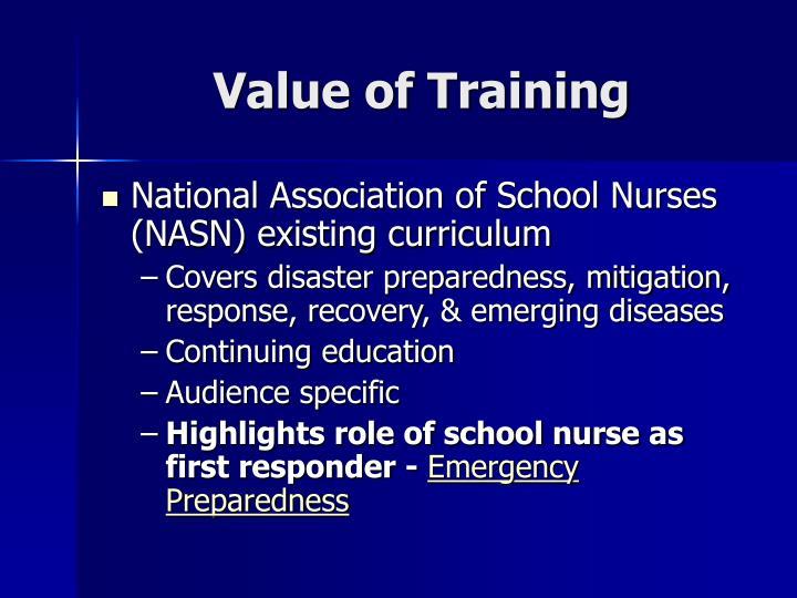 Value of training