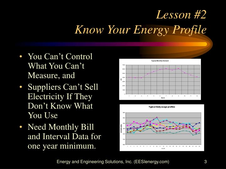 Lesson 2 know your energy profile