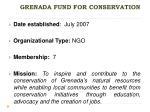 grenada fund for conservation