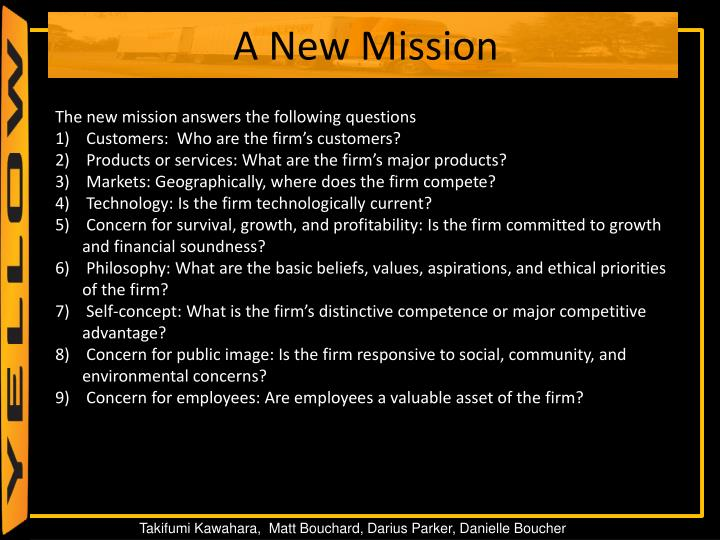 The new mission answers the following questions