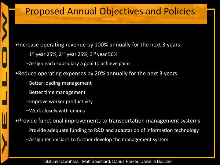 Increase operating revenue by 100% annually for the next 3 years