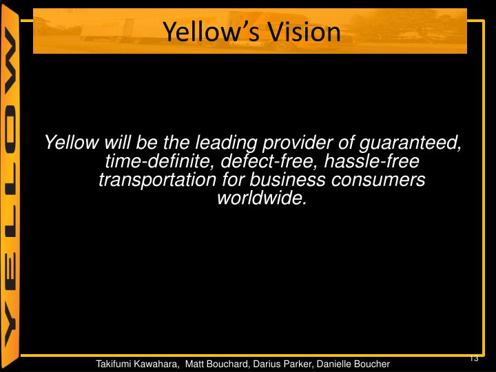 Yellow's Vision