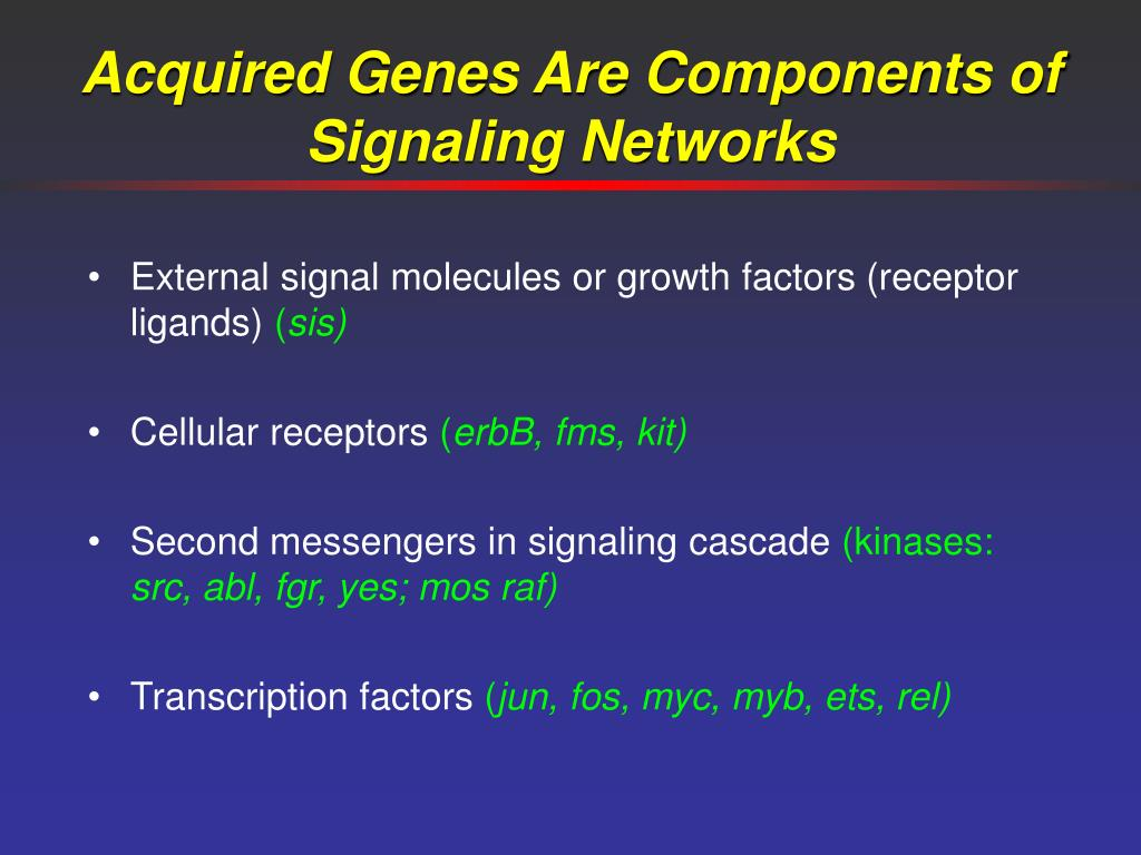 Acquired Genes Are Components of Signaling Networks