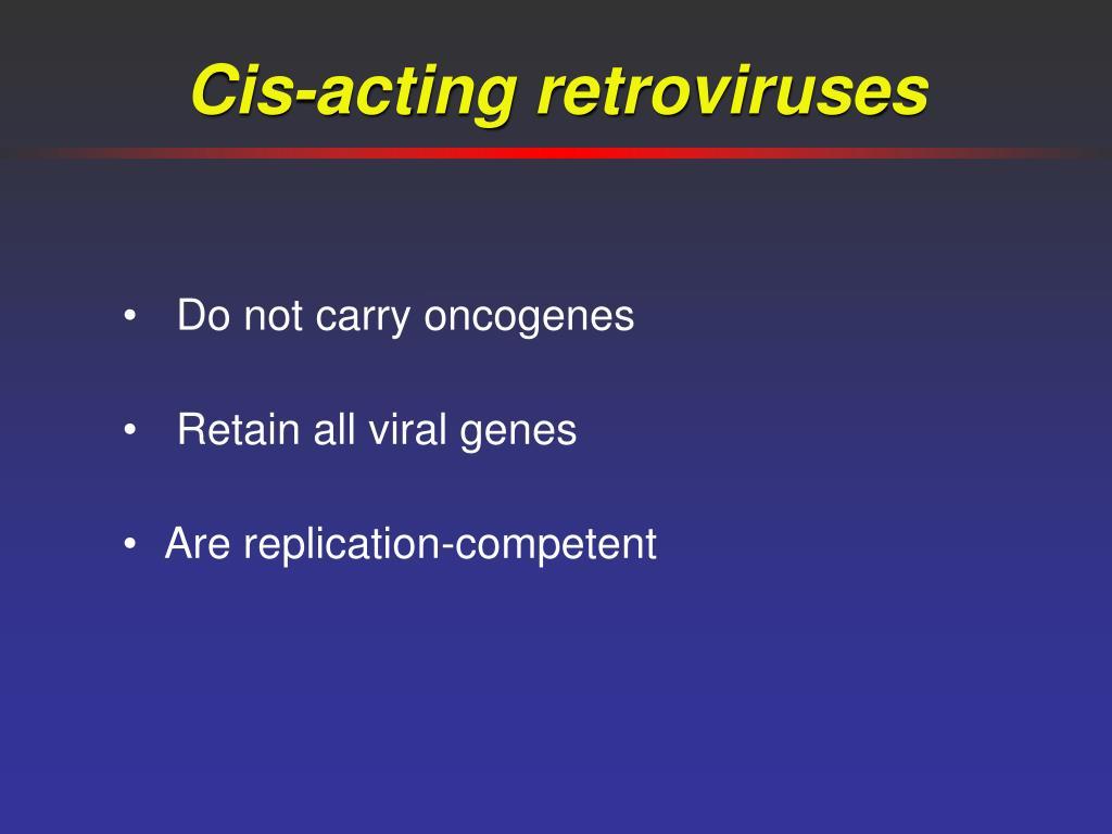 Cis-acting retroviruses